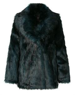 Фактурная шуба оверсайз Unreal fur