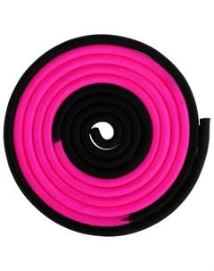 Скакалка гимнастическая утяжелённая двухцветная 3 м 160 г цвет розовый черный Grace dance