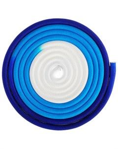 Скакалка гимнастическая утяжелённая трёхцветная 3 м 160 г цвет белый синий фиолетовый Grace dance