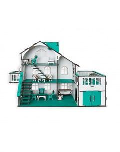Кукольный домик с террасой 27х52х35 см Эlen toys