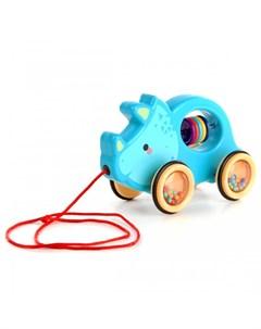 Каталка игрушка на веревочке Носорог Ути пути
