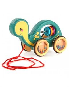 Каталка игрушка на веревочке Черепашка Ути пути