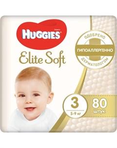Подгузники Elite Soft 3 5 9кг 80шт Huggies