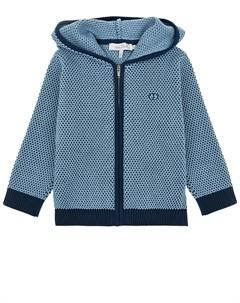 Голубая кофта на молнии детская Dior