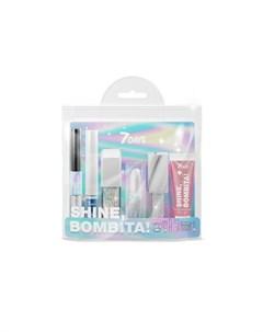 Подарочный набор для макияжа косметичка shine bombita 1 icon 6 средств 7 days