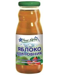 Сок Organic яблоко шиповник 200мл Fleur alpine