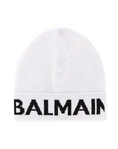 Вязаная шапка бини с логотипом Balmain kids
