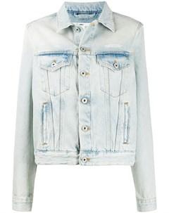 Джинсовая куртка из вареного денима Off-white