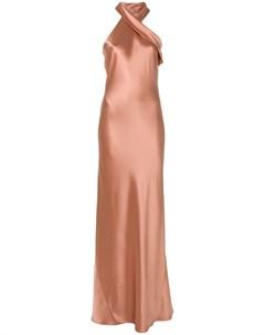 Вечернее платье с петлей халтер Galvan