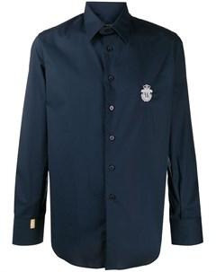 Рубашка на пуговицах с нашивкой логотипом Billionaire