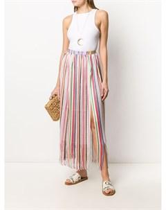 Длинная юбка в полоску с бахромой Missoni mare