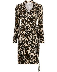 Платье рубашка с леопардовым принтом Dvf diane von furstenberg