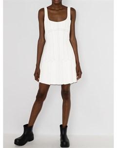 Платье мини с плиссировкой и корсетом Dion lee