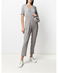 Укороченные брюки с эффектом потертости Raquel allegra