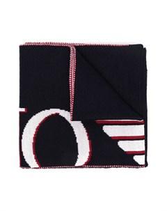 Шарф вязки интарсия с логотипом Emporio armani kids