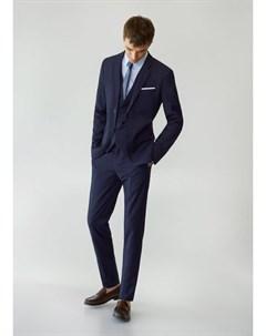 Костюмные брюки super slim fit в клетку Paulo Mango