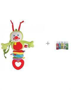 Погремушка Chatty Caterpillar и клей для слайма 125 мл Инновации для детей Happy baby
