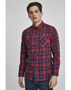 Рубашка Checked Flanell Shirt 5 Red Royal XL Urban classics