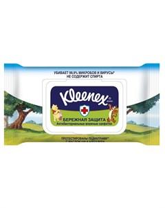 Влажные салфетки Дисней антибактериальные 40шт Kleenex