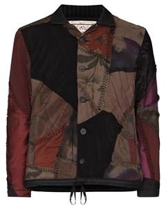 Куртка бомбер в технике пэчворк By walid