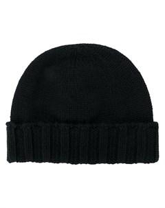 Вязаная шапка с ребристым подолом Drumohr