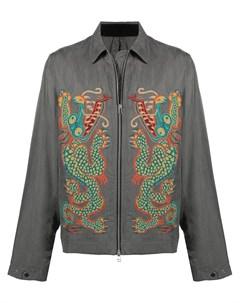 Куртка рубашка с вышивкой Maharishi