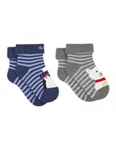 Носки в полоску Полярные 2 пары Mothercare