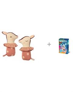 Погремушка Бэмби и неон фреска мини Праздничная ночь Фантазёр Maileg