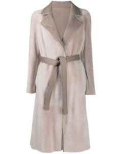 Двустороннее пальто с запахом Blancha