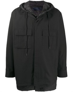 Пальто с капюшоном и накладными карманами Juun.j