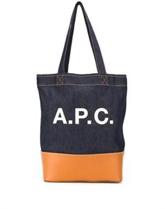 Джинсовая сумка тоут с логотипом A.p.c.