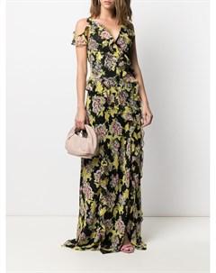Платье макси с цветочным принтом Dvf diane von furstenberg