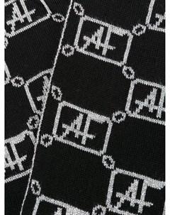 Шарф вязки интарсия с логотипом Alberta ferretti kids
