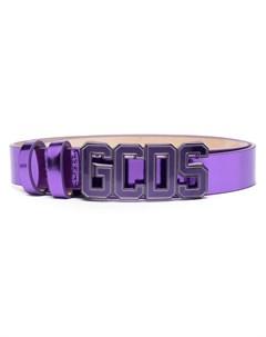Ремень с металлическим логотипом Gcds