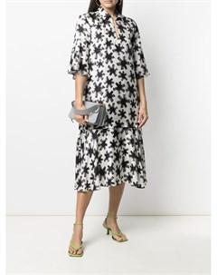 Платье с абстрактным цветочным принтом Odeeh