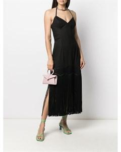 Платье миди с бахромой Paskal