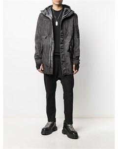 Куртка с рукавами перчатками и эффектом потертости 11 by boris bidjan saberi