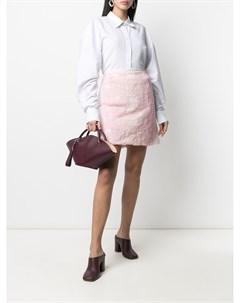 Короткая юбка с вышивкой Comme des garçons tricot
