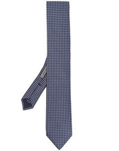 Галстук с геометричной вышивкой Corneliani