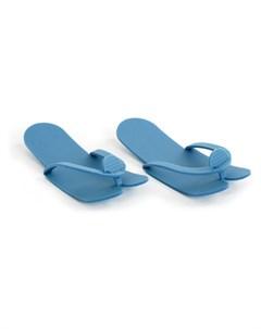 Тапочки Вьетнамки Синие Пенополиэтилен 5 мм НПЭ с Тиснением 25 пар Igrobeauty