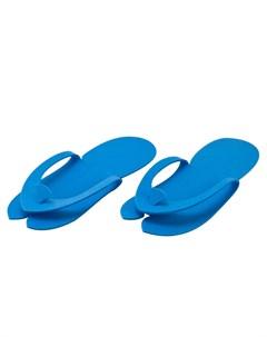Тапочки Вьетнамки Пенополиэтилен 8 мм НПЭ Синие 10 пар Igrobeauty