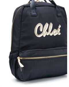 Рюкзак с логотипом Chloé kids