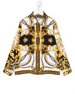 Рубашка с принтом в стиле Baroque Young versace
