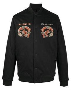 Куртка рубашка с графичным принтом Maharishi