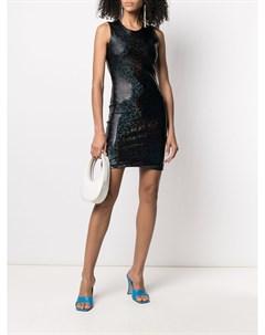 Платье мини Vision с эффектом металлик Saks potts