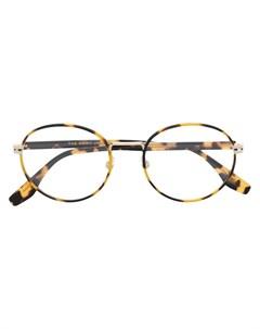 Очки в круглой оправе черепаховой расцветки Marc jacobs eyewear