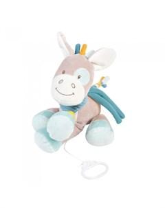 Мягкая игрушка Musical Soft toy Tim Tiloo Лошадка музыкальная 26 см Nattou