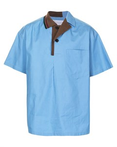 Рубашка с контрастным воротником Kolor