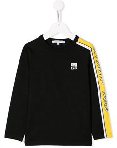 Свитер с контрастными полосками и логотипом Givenchy kids