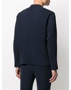 Однобортный плиссированный пиджак Homme plissé issey miyake